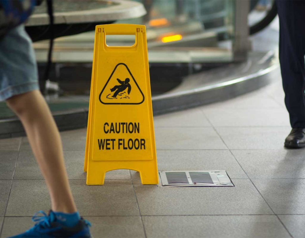Six Most Common Causes of Slip and Falls